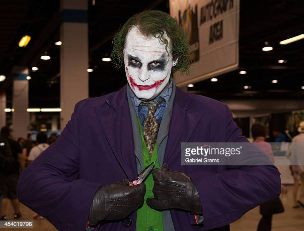 Cosplayer Cris Taylor as Joker attends Wizard World Chicago Comic Con 2014 at Donald E Stephens Convention Center on August 23 2014 in Chicago...