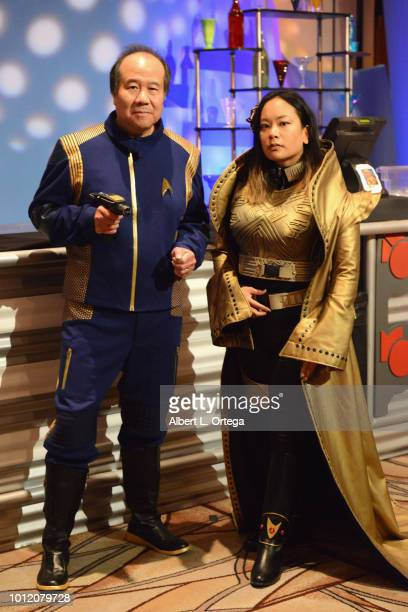 Cosplayer David Cheng and guest attend Day 4 of Creation Entertainment's 2018 Star Trek Convention Las Vegas at the Rio Hotel Casino on August 5 2018...