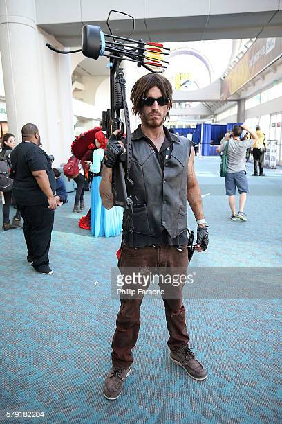 A cosplayer dressed as a character from The Walking Dead attends ComicCon International 2016 on July 22 2016 in San Diego California