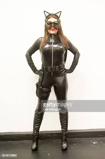 A cosplayer dressed as Cat Woman on day 2 of the November Birmingham MCM Comic Con at the National Exhibition Centre in Birmingham UK on November 20...