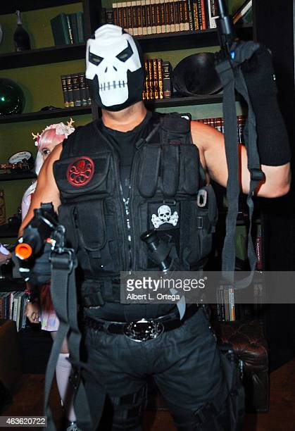 Cosplayer dressed as Crossbones at Club Cosplay LA held at OHM Nightclub on January 18 2015 in Hollywood California
