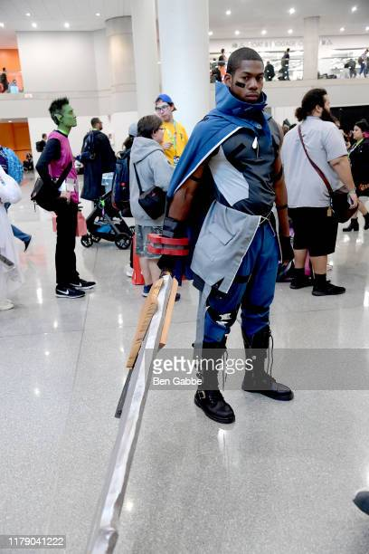 "Cosplayer dressed as ""Dart from God Eater"" attends New York Comic Con 2019 - Day 2 at Jacobs Javits Center on October 04, 2019 in New York City."