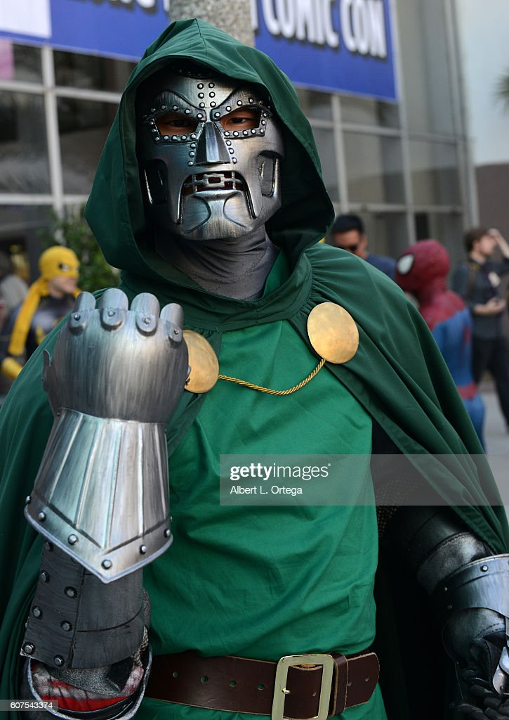 Cosplayer dressed as Doctor Victor Von Doom attends the Long Beach Comic Con held at Long Beach Convention Center on September 17, 2016 in Long Beach, California.
