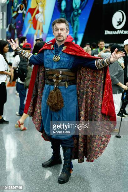 A cosplayer dressed as Dr Strange during New York Comic Con 2018 at Jacob K Javits Convention Center on October 4 2018 in New York City