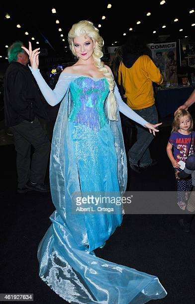 Cosplayer dressed as Elsa from Disney's 'Frozen' attends Day 2 of the Third Annual Stan Lee's Comikaze Expo held at Los Angeles Convention Center on...