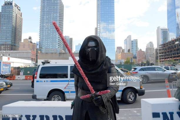 Cosplayer dressed as Kylo Ren from Star Wars is seen during New York Comic Con 2019 Day 2 at Jacobs Javits Center on October 04 2019 in New York City