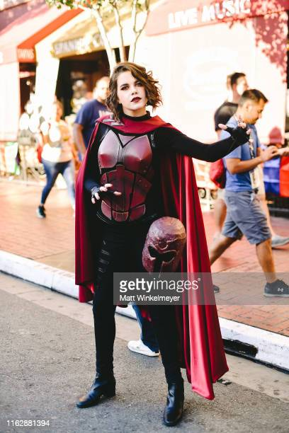 Cosplayer dressed as Magneto attends the 2019 Comic-Con International on July 18, 2019 in San Diego, California.
