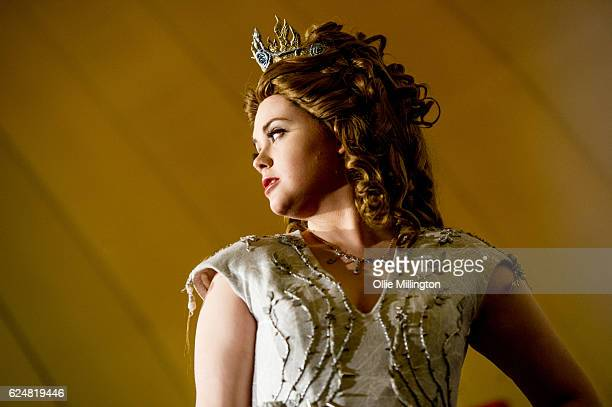 A cosplayer dressed as Margaery Tyrell from Game Of Thrones on day 2 of the November Birmingham MCM Comic Con at the National Exhibition Centre in...