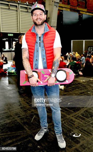A cosplayer dressed as Marty McFly of Back To The Future attends MCM Comic Con at Manchester Central on July 30 2017 in Manchester England
