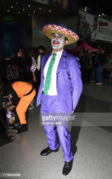 A cosplayer dressed as Mexican Joker from South Park attends the New York Comic Con at Jacob K Javits Convention Center on October 03 2019 in New...