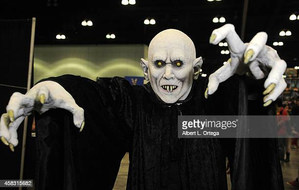 Cosplayer dressed as Nosferatu attends Day 3 of the Third Annual Stan Lee's Comikaze Expo held at Los Angeles Convention Center on November 2 2014 in...