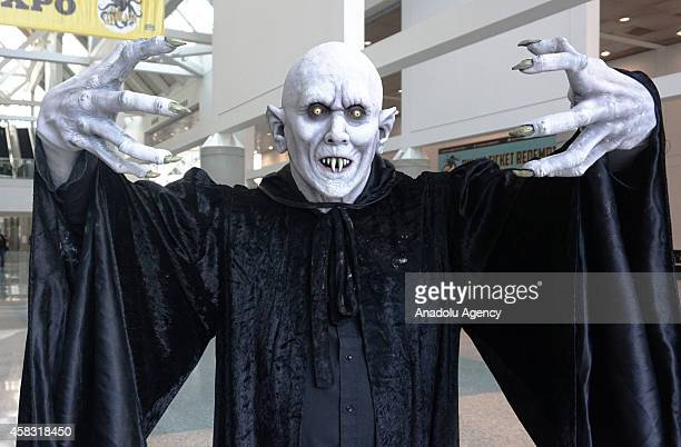 Cosplayer dressed as Nosferatu attends the third day of famous American comic book writer Stan Lee's Comikaze Expo at Los Angeles Convention Center...