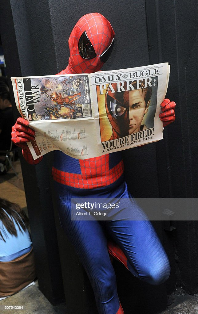 Cosplayer dressed as Spider Man attends the Long Beach Comic Con held at Long Beach Convention Center on September 17, 2016 in Long Beach, California.