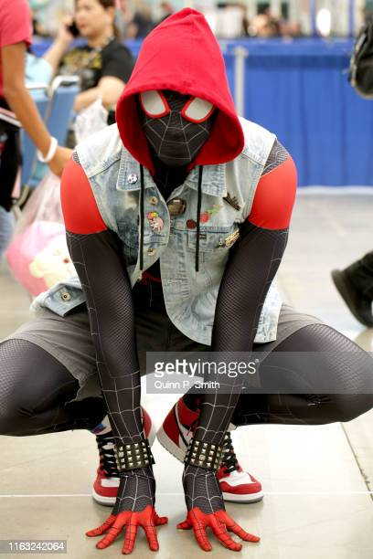 Cosplayer dressed as Spider-Man attends 2019 Comic-Con International on July 20, 2019 in San Diego, California.
