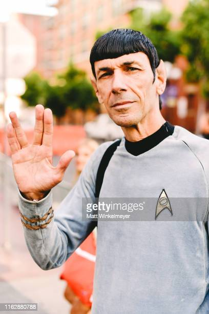 Cosplayer dressed as Spock attends the 2019 Comic-Con International on July 18, 2019 in San Diego, California.