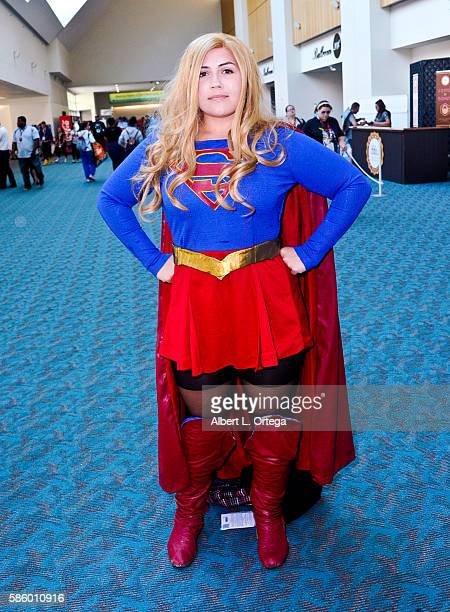 Cosplayer dressed as Supergirl on day 3 attends ComicCon International 2016 at San Diego Convention Center on July 23 2016 in San Diego California