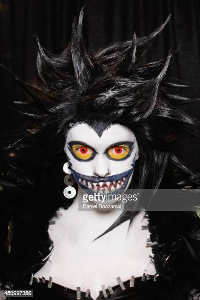 A cosplayer dressed as the character Ryuk from Death Note attends Wizard World Chicago Comic Con 2014 at Donald E Stephens Convention Center on...