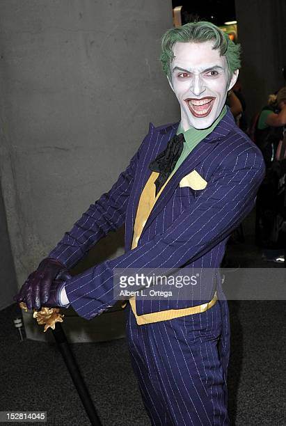 Cosplayer dressed as The Joker participates in Day 2 of ComicCon International 2012 held at San Diego Convention Center on July 12 2012 in San Diego...
