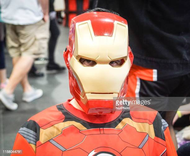 A cosplayer dressed as their favourite character during Day 1 of Manchester MCM Comic Con 2019 in Manchester Central England on 27 July 2019