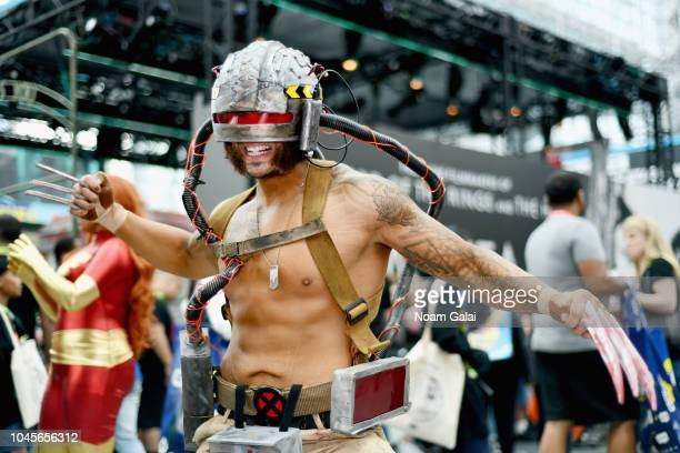 A cosplayer dressed as Weapon X during New York Comic Con 2018 at Jacob K Javits Convention Center on October 4 2018 in New York City