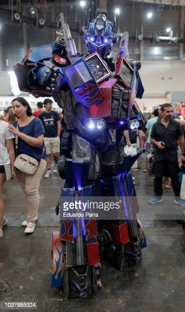 A cosplayer dressed lik Optimus Prime of Transformers attends the 'Heroes ComicCon 2018' at Ifema on September 22 2018 in Madrid Spain