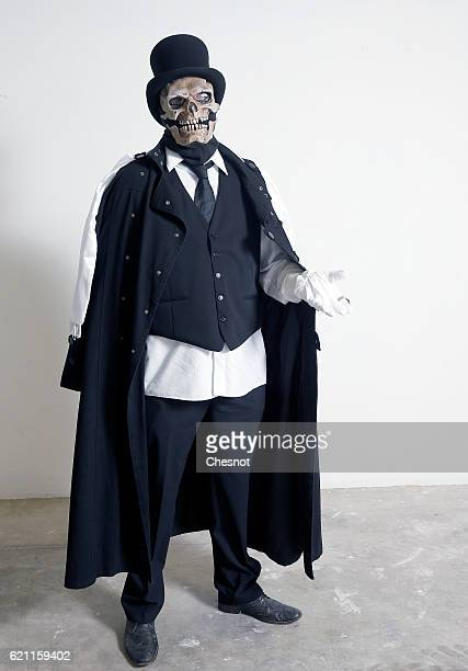 Cosplayer dressed with a costume of Baron Samedi poses during the Paris Manga & Sci-Fi Show at Parc des Expositions Porte de Versailles on November...