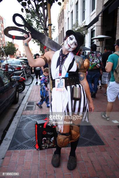 Cosplayer during 2017 ComicCon International on July 20 2017 in San Diego California