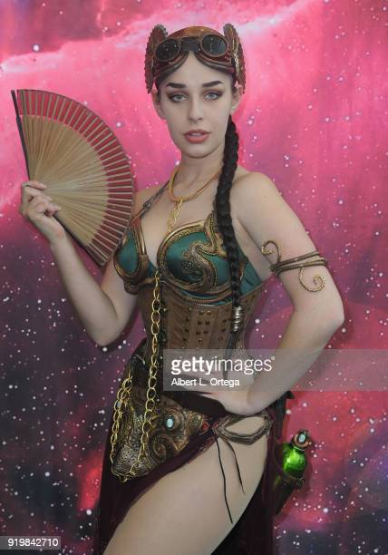 Cosplayer Eiraina Schmolesky attends day 1 of the 8th Annual Long Beach Comic Expo held at Long Beach Convention Center on February 17 2018 in Long...