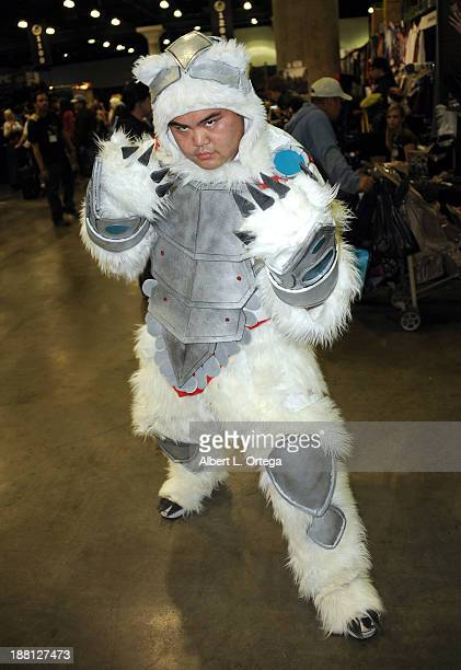 Cosplayer Francis Mendoza as Volibear from 'League Of Legends' attends Stan Lee's Comikaze Expo Presented By POW Entertainment Day 1 held at Los...