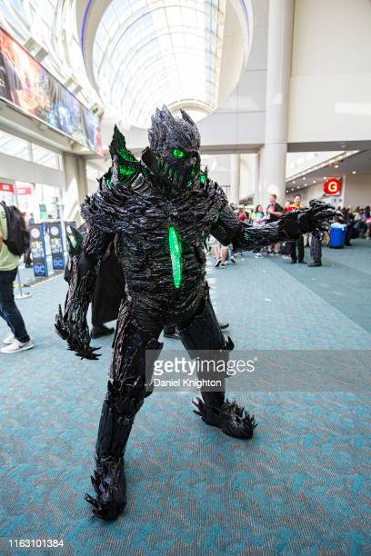 Cosplayer Hex Mortis as The Gate poses at 2019 ComicCon International on July 19 2019 in San Diego California