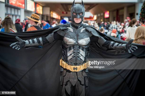 A cosplayer in character as batman during the Birmingham MCM Comic Con held at NEC Arena on November 18 2017 in Birmingham England