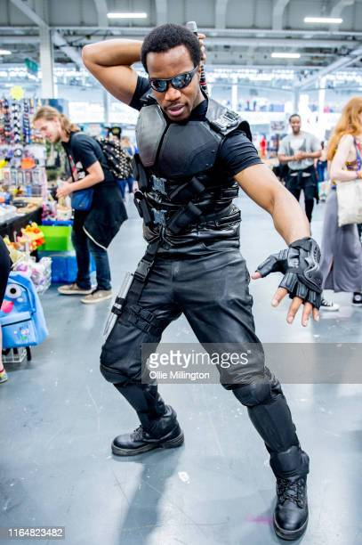 A cosplayer in character as Blade seen during London Film and Comic Con 2019 at Olympia London on July 28 2019 in London England