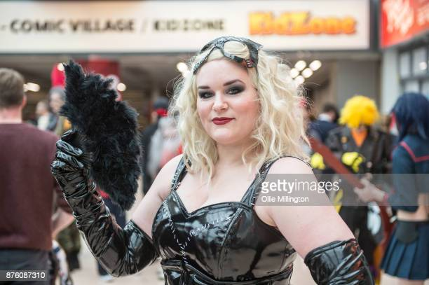 A cosplayer in character as Catwoman during the Birmingham MCM Comic Con held at NEC Arena on November 18 2017 in Birmingham England