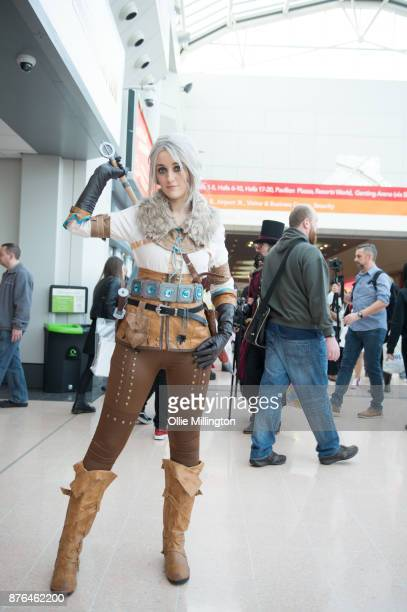 A cosplayer in character as Cirilla Fiona Elen Riannon from The Witcher an action roleplaying video game developed by CD Projekt RED and published by...