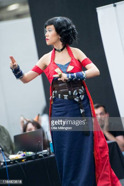 A cosplayer in character as Dr Strange seen during London Film and Comic Con 2019 at Olympia London on July 28 2019 in London England