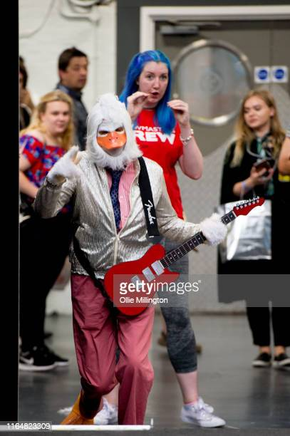 A cosplayer in character as Howard The Duck seen during London Film and Comic Con 2019 at Olympia London on July 28 2019 in London England