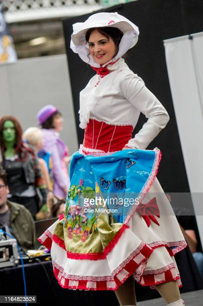 A cosplayer in character as Mary Poppins seen during London Film and Comic Con 2019 at Olympia London on July 28 2019 in London England