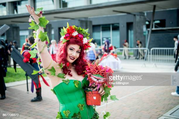 A cosplayer in character as Poison Ivy during MCM London Comic Con 2017 held at the ExCel on October 28 2017 in London England