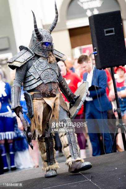 Cosplayer in character seen during London Film and Comic Con 2019 at Olympia London on July 27, 2019 in London, England.