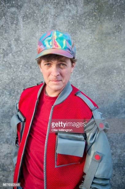 A cosplayer in charcter as Marty Mcfly from Back to the Future during MCM London Comic Con 2017 held at the ExCel on October 28 2017 in London England