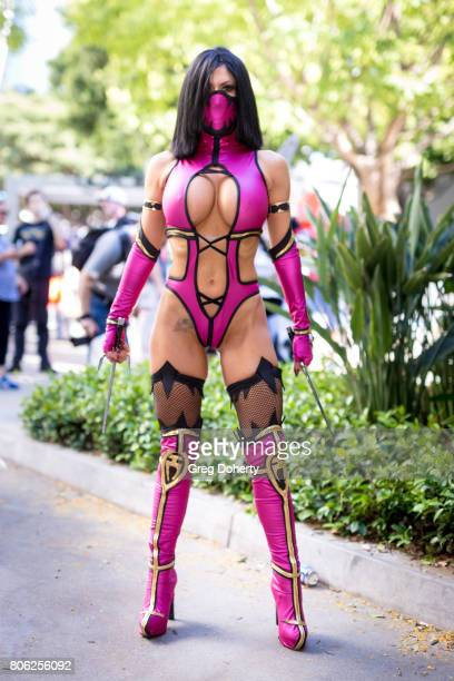 Cosplayer Ireland Reid attends the Anime Expo 2017 at Los Angeles Convention Center on July 2 2017 in Los Angeles California
