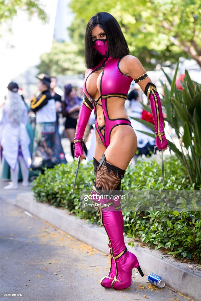 Cosplayer Ireland Reid attends the Anime Expo 2017 at Los Angeles Convention Center on July 2, 2017 in Los Angeles, California.