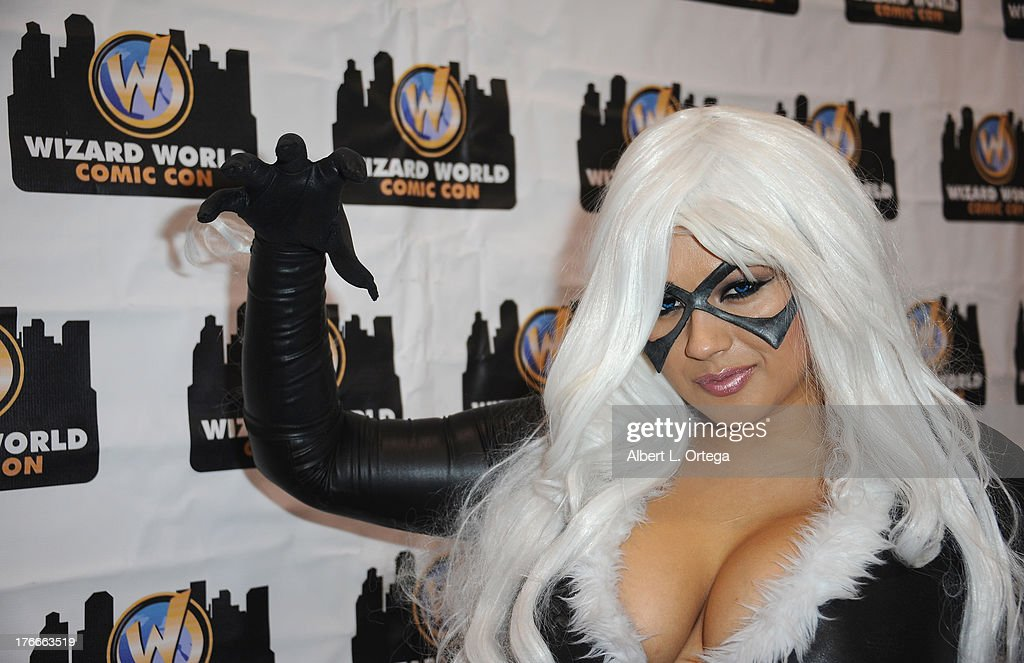 Cosplayer Ivy Doom Kitty as he Black Cat attends Day 1 Wizard World Chicago Comic Con held at Donald E. Stephens Convention Center on August 9, 2013 in Rosemont, Illinois.