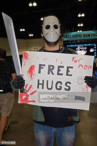 Cosplayer Jason Voorhees at Los Angeles Convention Center on October 30 2016 in Los Angeles California