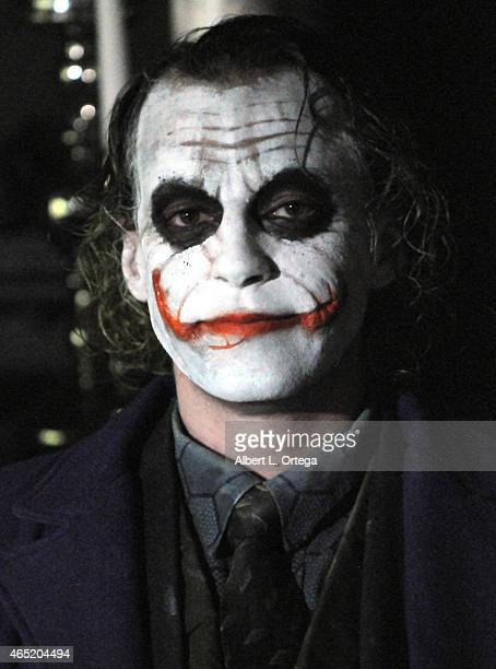 Cosplayer Jesse Oliva as The Joker at 2015 Saturn Award Nominations for the 41st Annual show to be held June 25th read live at StreamTV Studios on...