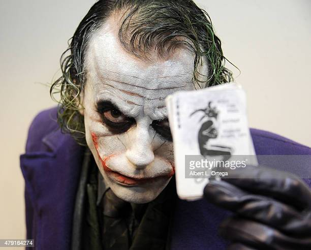 Cosplayer Jesse Oliva as The Joker attends the 2nd Annual LA Cosplay Con held at the Century Plaza Hotel on June 13 2015 in Century City California