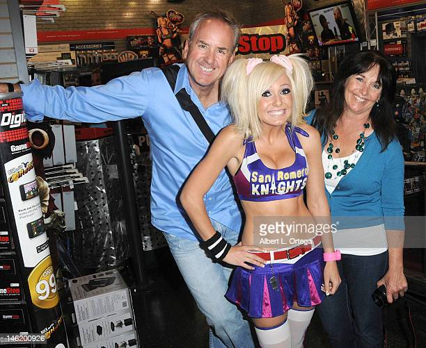 Cosplayer Jessica Nigri and parents participate in the Warner Bros Interactive Entertainment And Grasshopper Manufactures Lollipop Chainsaw Launch...