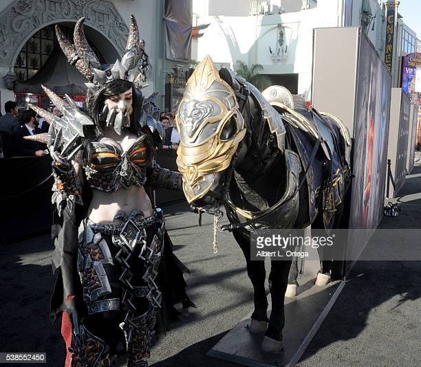 Cosplayer Jessica Nigri arrives for the Premiere Of Universal Pictures' Warcraft held at TCL Chinese Theatre IMAX on June 6 2016 in Hollywood...