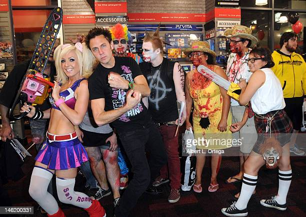 Cosplayer Jessica Nigri as Juliet Starling and writer/director James Gunn participate in the Warner Bros. Interactive Entertainment And Grasshopper...