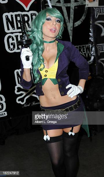 Cosplayer Jessica Nigri as Lady Joker participates in Stan Lee's Comikaze Expo 2nd Annual Pop Culture Convention Day 1 held at The Los Angeles...